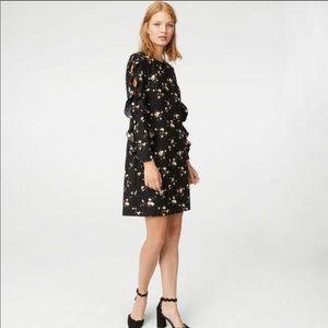 Club Monaco | Clayre Black Floral Shift Dress